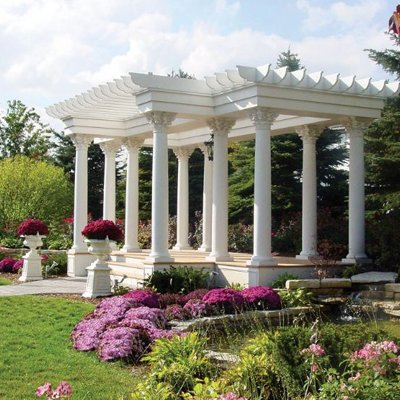 gazebo on The Haley Mansion grounds