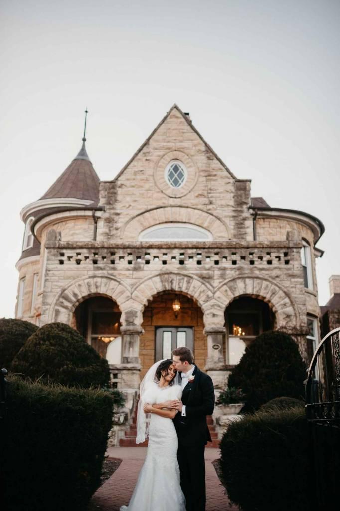 classic wedding theme at castle venue